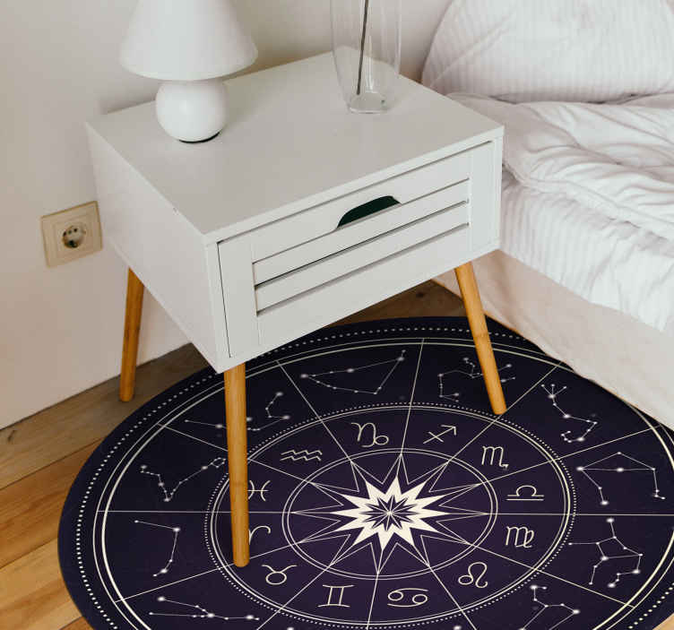 TenStickers. horoscope ethnic style rugs. The most amazing horoscope vinyl rug showing all the star signs that will look incredible in your home. Personalised stickers.