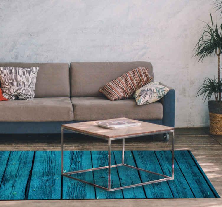 TenStickers. 蓝色木纹木地板. 开箱即用的蓝色木地板在您的家里看起来会很棒!易于应用且令人惊讶,您还想要什么?