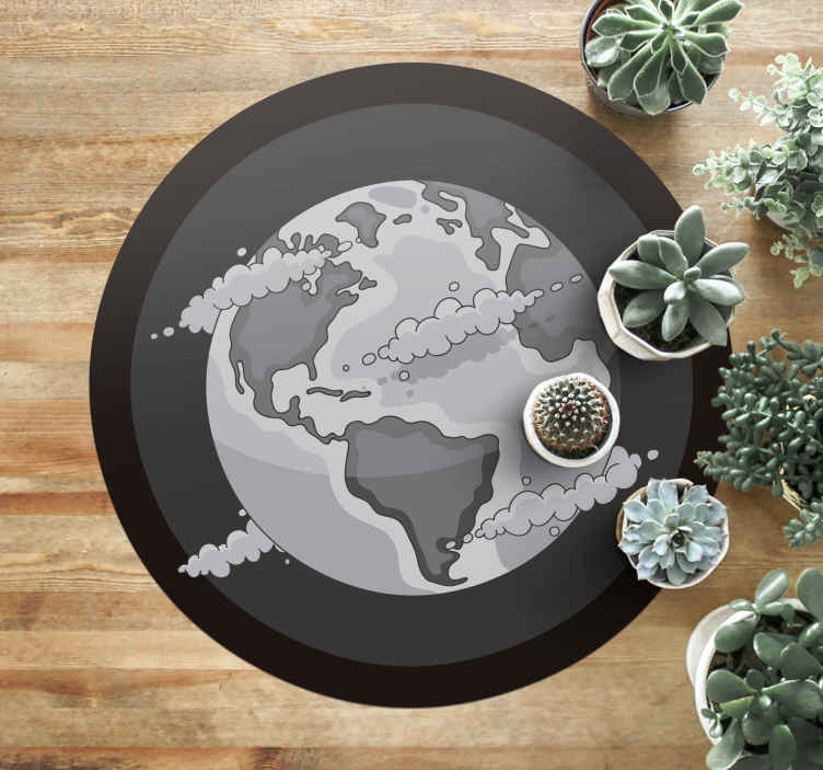 TenStickers. the world vinyl map rug. A modern world map rug that will suit any home! Choose the perfect size for you and get ready to fall in love with your home all over again.