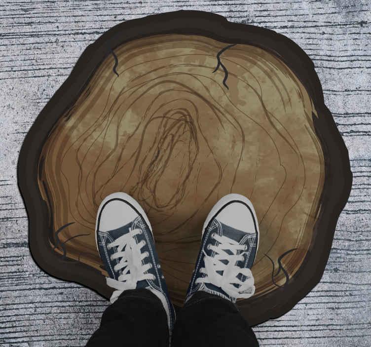 TenStickers. Covor de vinil trunchi rupt parchet din vinil efect lemn. Un covor frumos portbagaj rupt pentru everyones acasă. Cumpărați-l în orice dimensiune pentru a acoperi o podea frumoasă și moale. Este ușor de utilizat și foarte durabil.