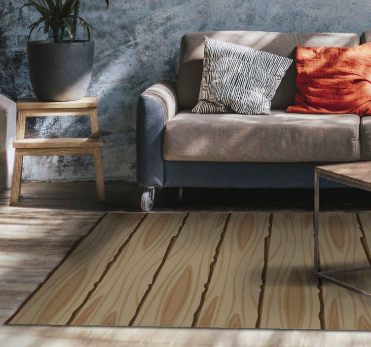 TenStickers. vinyl rug wooden stripes wood effect vinyl flooring. The subtle touch it will bring to your interior will leave the room more lively and elegant. It is made of a quality sticker. Home delivery !