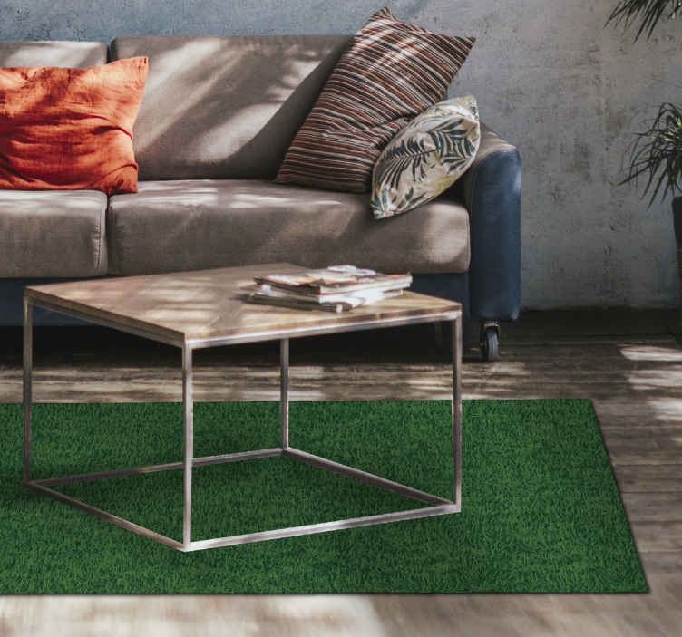TenStickers. vinyl rug realistic grass nature carpet. Sticker nature rug It will be an excellent solution for all those who dream of creating a very elegant atmosphere inside their home, Home delivery