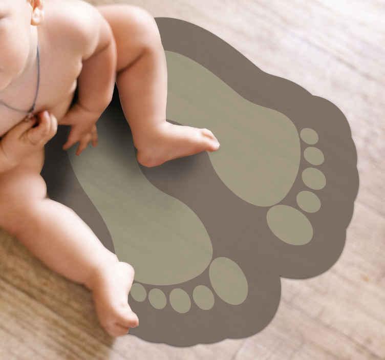 Tenstickers. Vinylteppe bad fotspor moderne tepper. Kult moderne vinyl teppe produkt med et klistremerke design av fotavtrykk. Et fint design for alle rom, og den er veldig enkel å vedlikeholde.