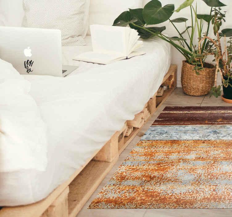 TenStickers. tapis vinyl vintage Vieux rouillé. Un tapis texturé rouille qui aura fière allure dans votre maison! Avec plus de 10 000 clients satisfaits, vous êtes définitivement entre de bonnes mains.