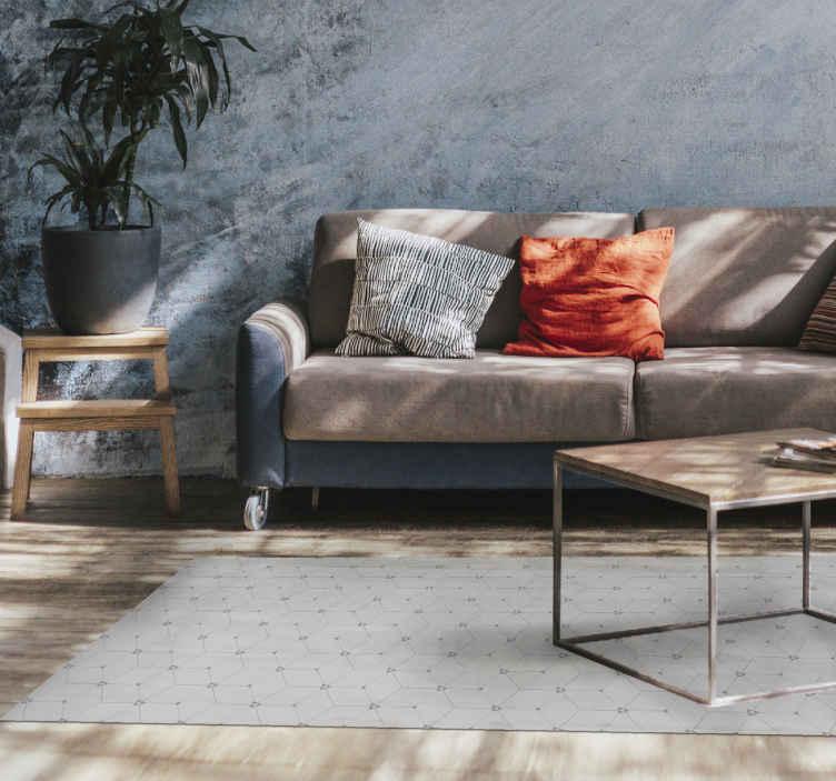 TenStickers. 3d立方现代地毯. 时髦的几何形状乙烯基地毯,用于家庭装饰。该产品非常适合任何其他空间。高品质且易于维护。