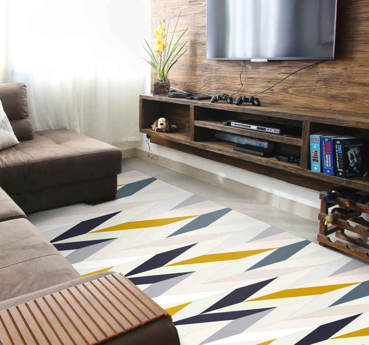 TenStickers. Coloured geometric features geometric carpets. Make every room in your home with the extravagant vinyl geometric features design. This vinyl carpet is perfect for you.