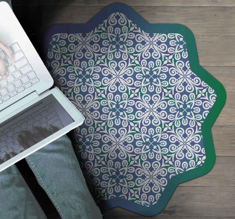 TenStickers. Ethnic pattern colorful ethnic style rugs. Decorate every room in your home with the extravagant vinyl rugethnic pattern colorful design. This vinyl rug is perfect for you.