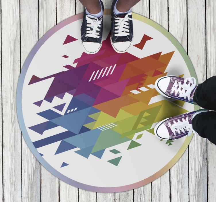TenStickers. 彩色的形式的孩子乙烯基地毯. 美丽的彩色的形式乙烯基地毯。这种令人惊叹的乙烯基地毯功能非常完美。这种优雅的设计将真正取悦您家中的每个人!