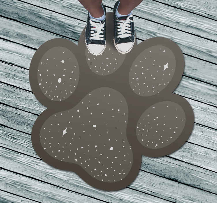 TenStickers. Vinyl rug dog paw animal mat. special dog's foot fancy living room rug, animal sticker. It is presented with the designs of the original painting, perfect for decorating your home
