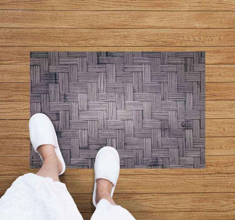Tenstickers. Vinylmatta mörkt bambustruktur träeffekt vinylgolv. Detta vinylgolv har en mörk bambustruktur. Den är halksäker och extremt långvarig och motståndskraftig.