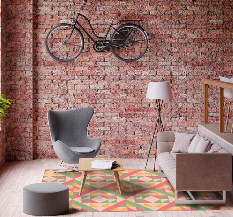 Tenstickers. Vinylteppe fortau mønster steingulv. Vakkert teppe fortau mønster fortau mønster teppe er en perfekt løsning for kjøkkenet fordi det er så praktisk. Kjøpe det.