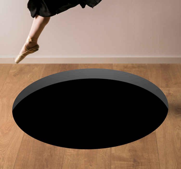 TenStickers. Gaură în podea covoare contemporane. Gaura fantezie speciala in podea originla design covor vinil. Este prezentat cu desenele picturii originale, perfecte pentru decorare