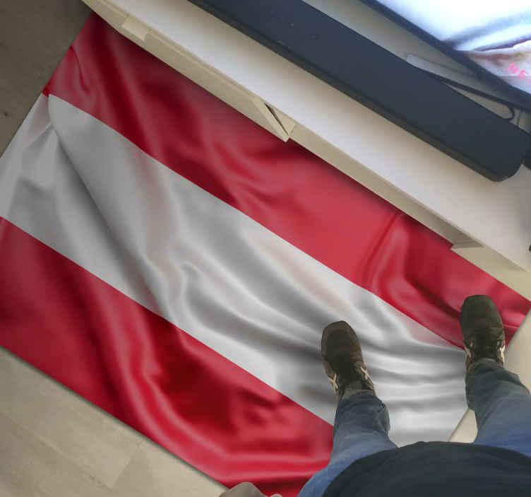TENSTICKERS. オーストリアの旗現代の敷物. あなたの家やオフィスを飾るための旗のデザインの素晴らしいビニールカーペット。旗を振るオーストラリアを表すデザインの高品質ビニールカーペット。