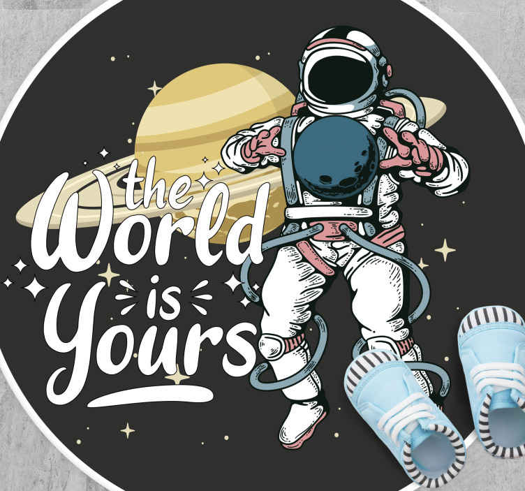 TenStickers. Space the world is yours contemporary rugs. Beautifulspace the world is yours vinyl carpet perfect to put in a salon in your house. If you are looking for a cute decoration for your home.
