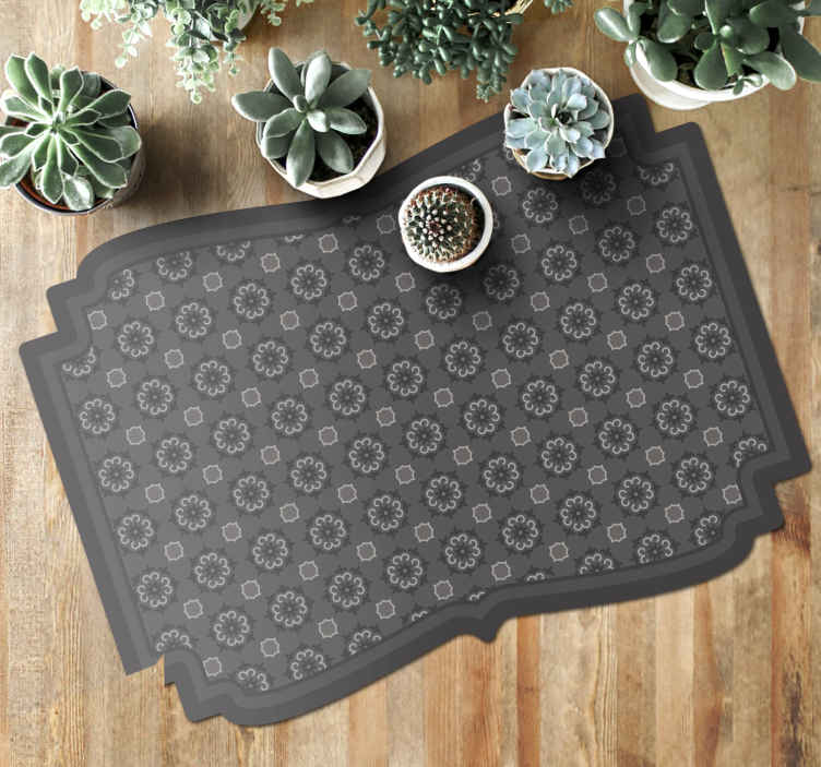 TenStickers. tile motif tile mat. Fantastic Vinyl rug super tile motif patterns, which can be mounted inexpensively in stickers for your living room. Buy it now.