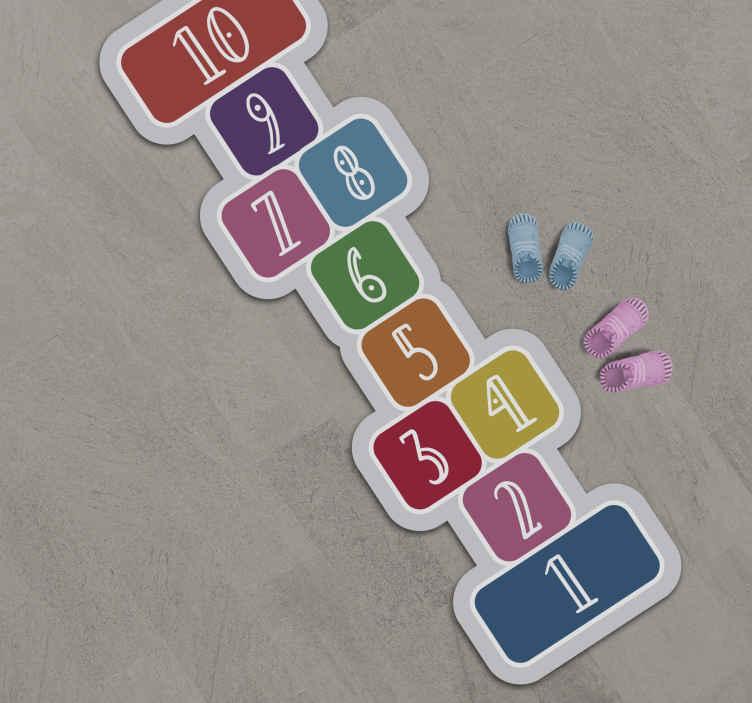 TenStickers. Tapete de jogo tapete de jogo. Fantásticos tapetes de vinil com padrões de quadrados super coloridos, que podem ser montados de forma económica em adesivos para sua sala.