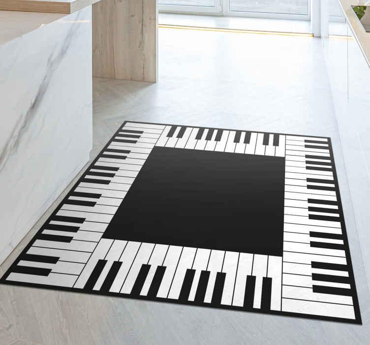 TenStickers. Tapete de vinil cozinha piano tapetes contemporâneos. Um tapete de vinil para piano perfeito e ideal para todos os amantes da música e também para decorar a sua casa com produtos musicais.