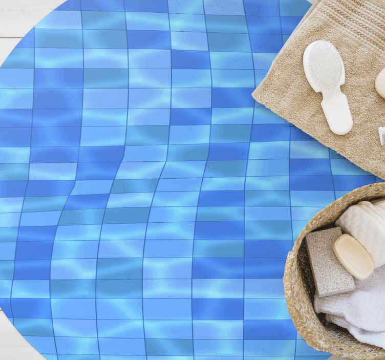 TenStickers. Piscina tapetes de vinil contemporâneos. Um fantástico tapete de vinil para piscina para decorar a sua casa com um look de verão, sem piscina. Produto de alta qualidade.