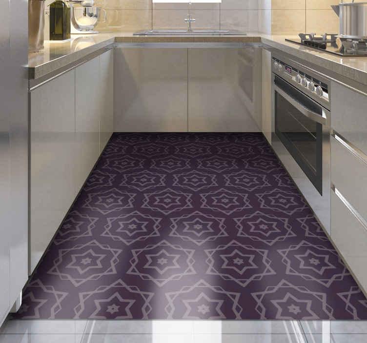 TenVinilo. Alfombras vinilo hidráulica de estrellas. Increíble alfombra vinilo hidráulica rectangular adecuada para los espacios más comunes de su hogar. Es original y duradera ¡Envío exprés!