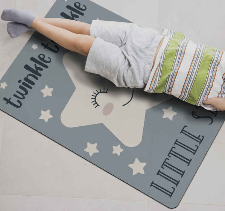 TenStickers. twinkle twinkle little star song  star carpet. Carpet in blue sticker with stars, perfect if you want to decorate your living room. This bedroom vinyl flooring is perfect for  walls.