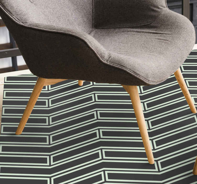 TenStickers. Nordic them and white motif  nordic style rugs. Nordic them and white motif super vinyl carpet in great shape for the entrance area and other interiors in a house. Buy it now.