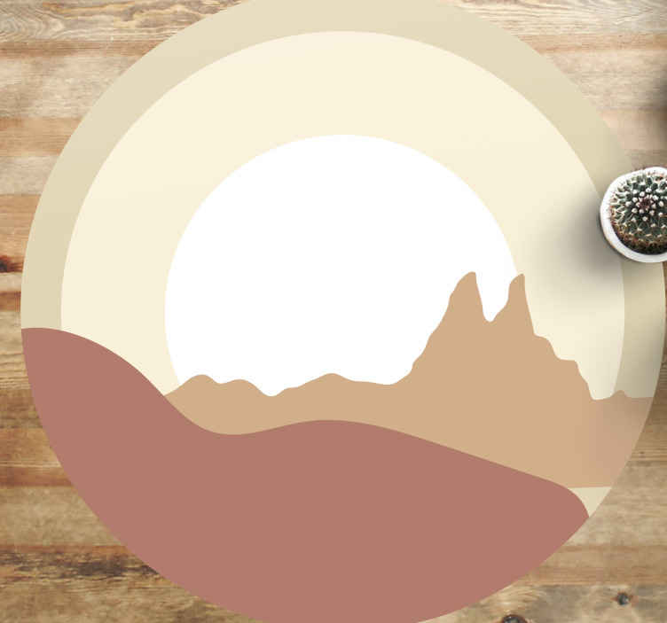 TenStickers. коврики в этническом стиле sunshine натуральный ковер. Супервиниловый ковер sunshine natural отлично подходит для прихожей и других интерьеров в доме. удивительный виниловый ковер, который можно купить.