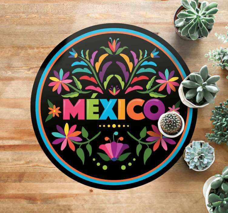 TenVinilo. Alfombra vinilo frases México de tenango. Una alfombra vinílica salón de México con temas tenango para decorar el suelo de cualquier habitación que desees ¡Envío exprés!