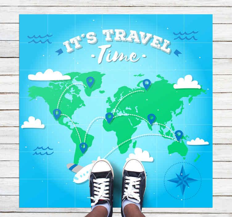 TenStickers. Covor verde cu hartă mondială de vinilă. îți place să călătorești și vrei o piesă decorativă care să-ți arate pasiunea pentru călătorii. Ei bine, atunci acest covor de vinil pentru harta lumii este pentru tine! Calatoreste acum!