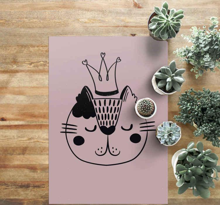 TenVinilo. Aflombra vinilo infantil gato princesa. Alfombra vinilo infantil de princesa para darle un bonito aspecto al suelo de tu hogar si te encantan los gatos ¡Descuentos disponibles!