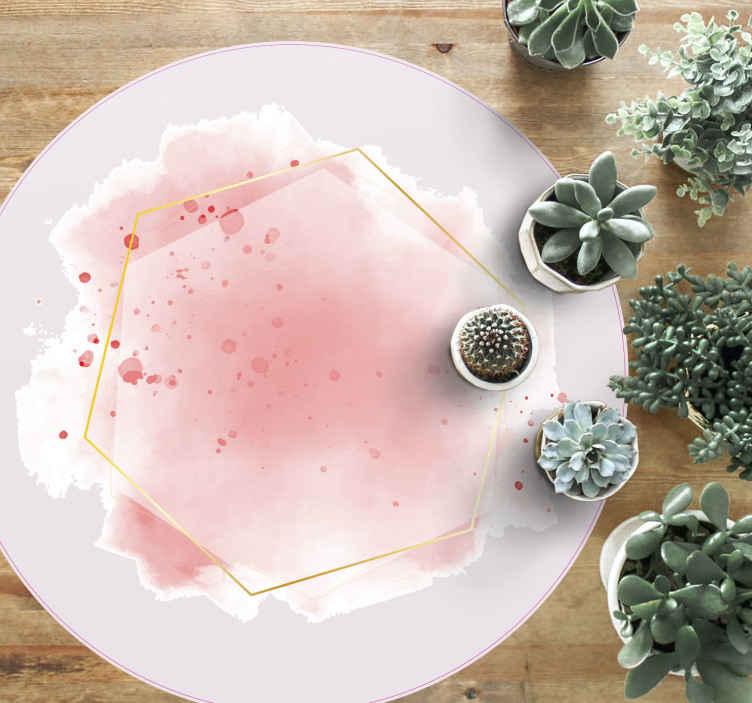 TenStickers. ονειρικό βιτρό ψηφιδωτό δάπεδο βινυλίου. ένα τέλειο ροζ μωσαϊκό δάπεδο βινυλίου εξαιρετικό για να δώσει μια διακοσμητική αλλαγή στο σπίτι σας. ένα πλύσιμο και αντιαλλεργικό προϊόν. αντι-φυσαλίδες βινυλίου.
