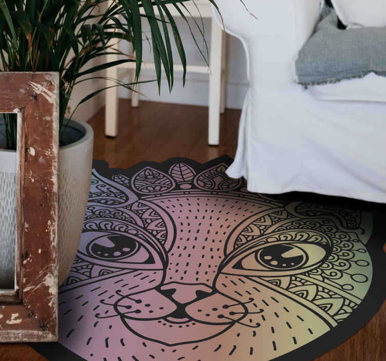 TenStickers. Cat at night collage bedroom carpet. Get the modern cat vinyl rug your floor needs today over at our website! If you order it now you can stand on it in just a short amount of time!