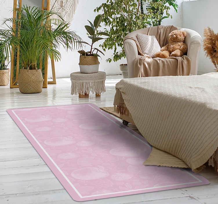 TenStickers. Retro brush strokes bedroom carpet. Retro brush strokes bedroom rug. Perfect to decorate any part of your home and it is manufactured with best quality vinyl. Original and durable.