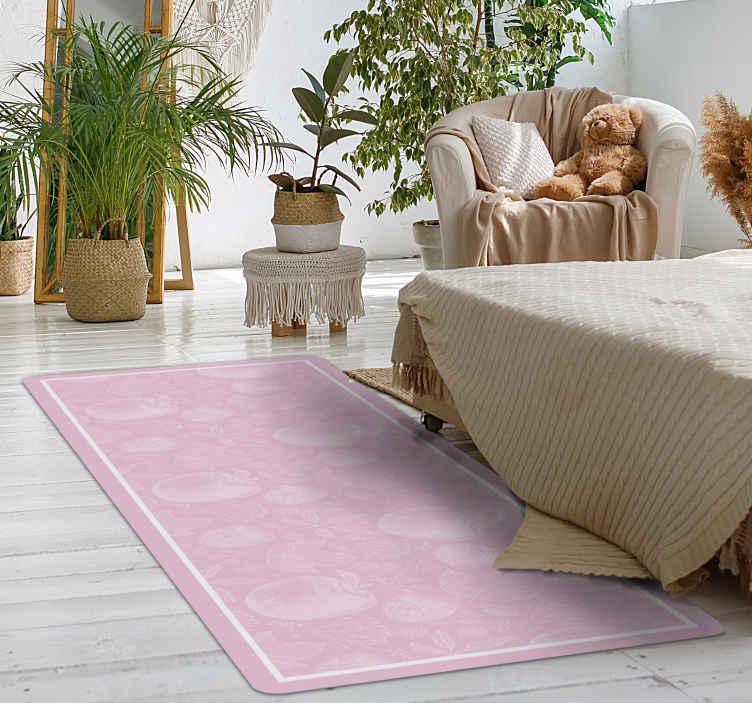 TenVinilo. Alfombra vinilo moderna trazos pincel rosa. Alfombra vinílica moderna retro pinceladas para decorar cualquier parte de tu hogar y llenarlo de elegancia ¡Envío exprés!