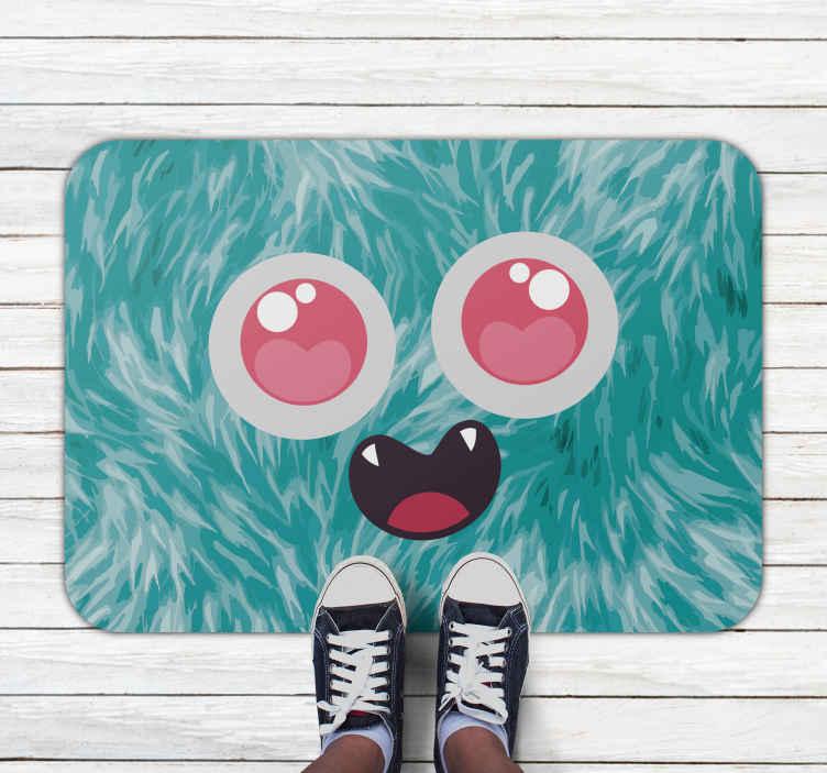 TenVinilo. Alfombra vinilo infantil monstruo adorable. Una bonita alfombra vinilo infantil de monstruo de dibujos para decorar el cuarto de tus hijos con un diseño original ¡Descuentos disponibles!
