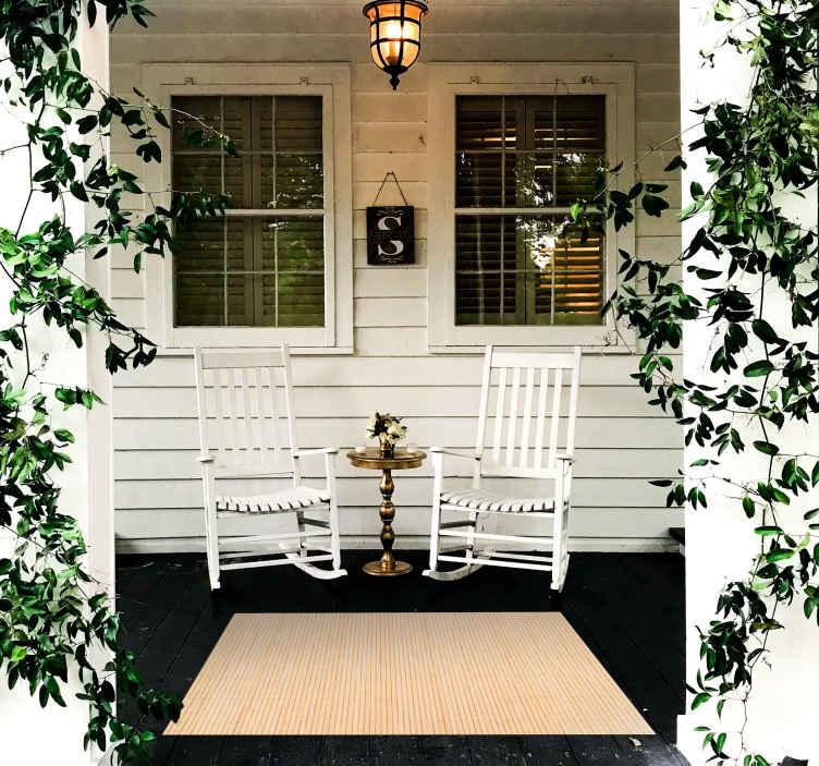 TenStickers. 竹花纹纹理乙烯基地毯. 竹纹理的乙烯基地毯,可在外部装饰您的房屋。易于清洁的产品,独特的设计适用于任何房间!