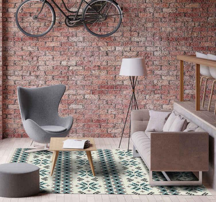 Tenstickers. Nordisk tekstur design nordiske tepper. Hvis du elsker den vakre teksturen, er dette teppet for deg! Dette nordiske vinylteppet gir et fantastisk utseende hjemme! Gulvene dine blir beskyttet.