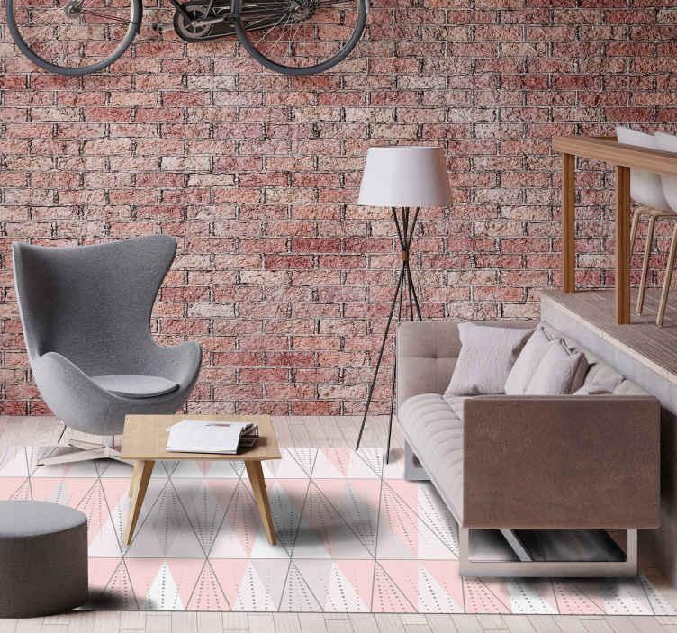 TenVinilo. Alfombra vinilo nórdica rosa con rayas. ¿Has estado buscando una alfombra vinilo nórdica con diseño de diferentes colores para decorar tu habitación? ¡Aquí la tienes!