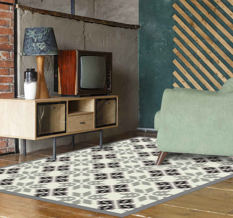 TenStickers. Simple nordic style  nordic style rugs. Simple but elegant Nordic style vinyl carpet to decorate your floor space. It is really easy to maintain and manufactured with top quality vinyl.