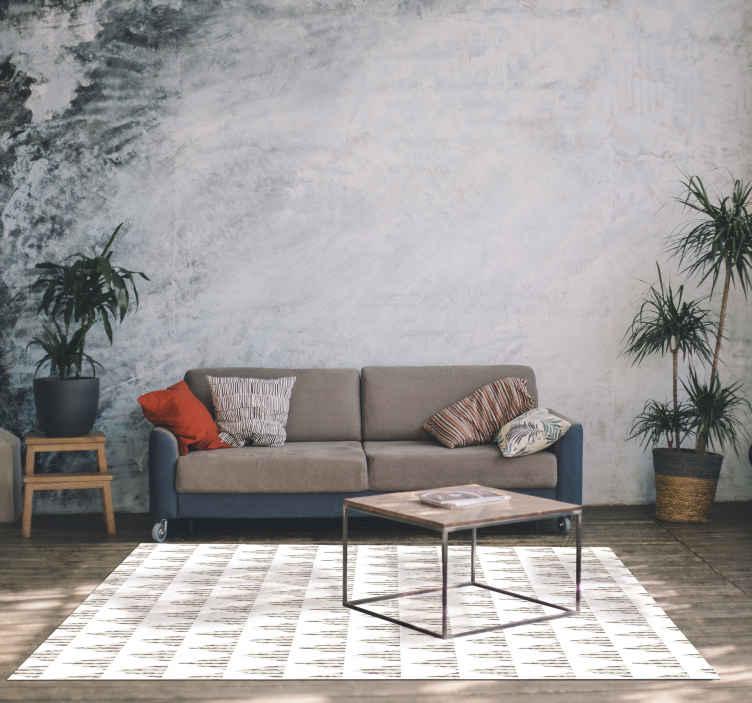 TenVinilo. Alfombra vinilo geométrica nórdica. Alfombra vinilo geométrica simple para el suelo de tu casa con un patrón nórdico. Elige las medidas ¡Descuentos disponibles!