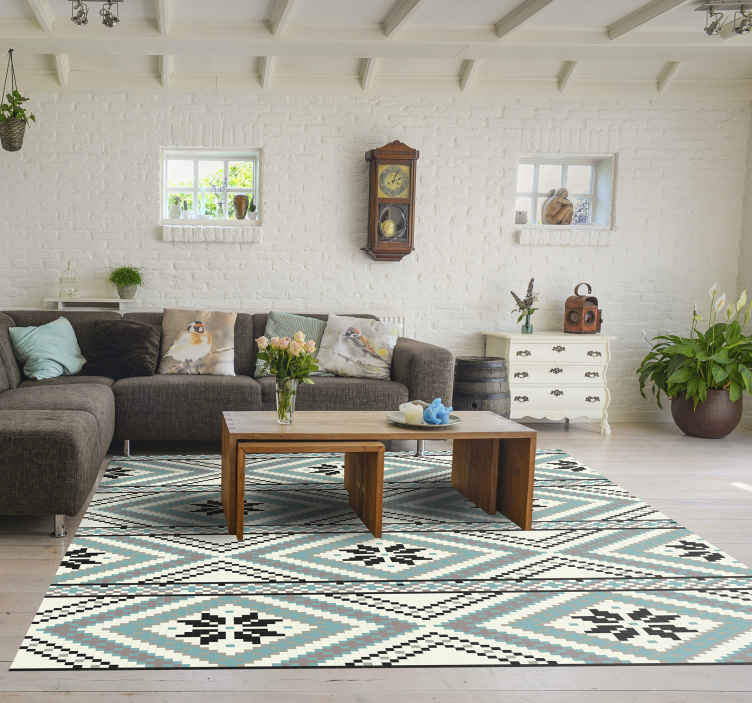 TenStickers. Geometric figures Scandinavian design  nordic style rugs. Geometric figures Scandinavian Nordic rug for living room. It can also be placed on other areas in the home. It is original and easy to maintain.