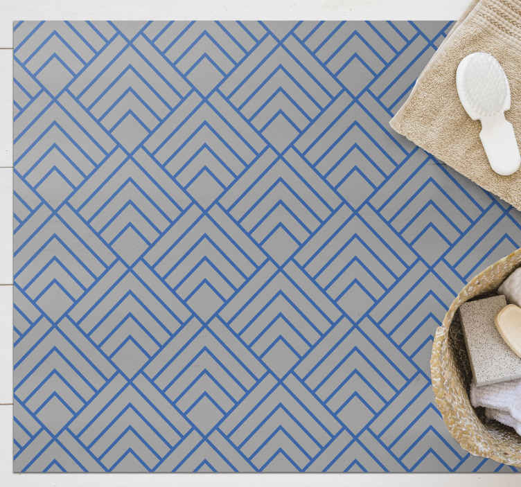 TenStickers. Navy basket weave texture rug. Add a touch of sophistication and style to your home with this beautiful rug!  Order now thi incridible rug ! Home delivery !