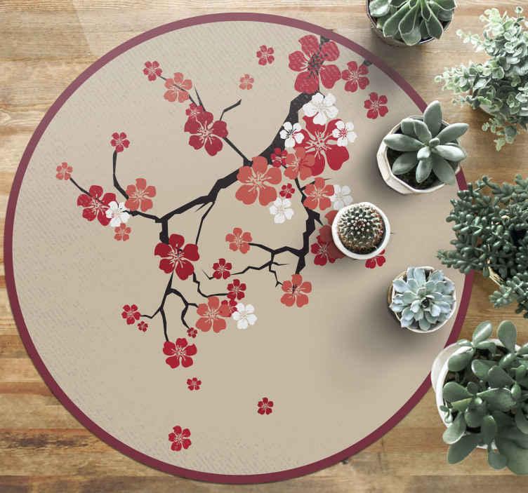 TenStickers. tapis vinyle motif ethnique Nature coréenne. Plongez-vous dans la culture coréenne! Avec un design nature koreene typique pour donner à votre pièce la touche parfaite! Livraison à domicile!