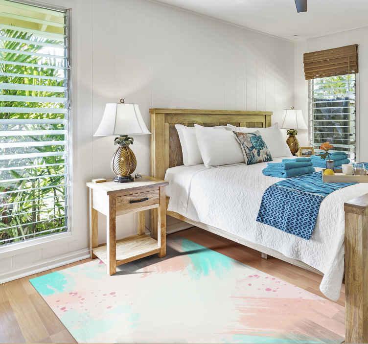 TenStickers. Vinyl tapijt Abstract pastel kleuren. Abstract kleurrijk design vinyl tapijt om elke kamer er uniek uit te laten zien. Een elegant ontwerp voor keukenvloeren of slaapkamer of woonkamer.