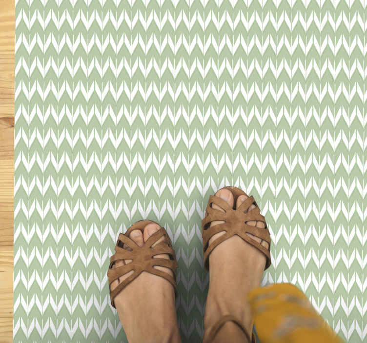 TenStickers. Green carpet look texture carpet runners for halls. Vinyl rig with green zig zak pattern. It is made of high quality vinyl material and you can personalize it in any size. Check it out!