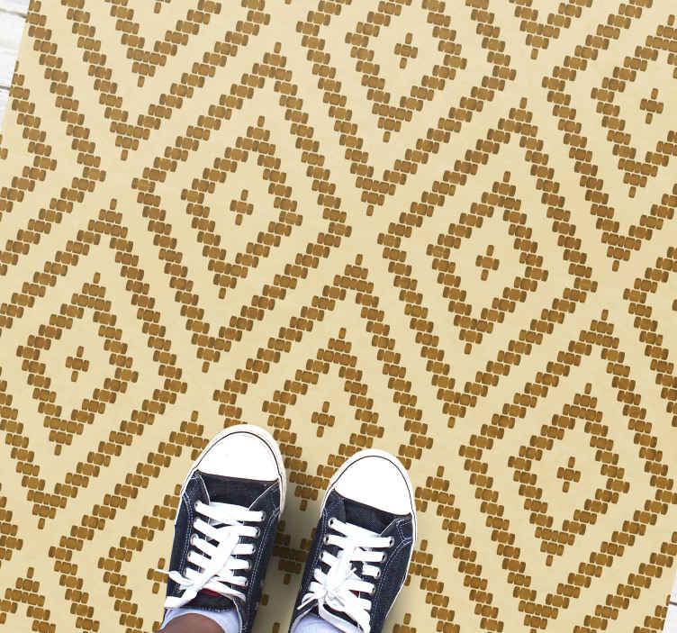 TenStickers. tapis vinyl pour couloir Diamants géométriques modernes. Un tapis en sticker au-delà de beaux motifs géométriques qui aura fière allure dans vos pièces. Inscrivez-vous à notre site web pour 10% de réduction.