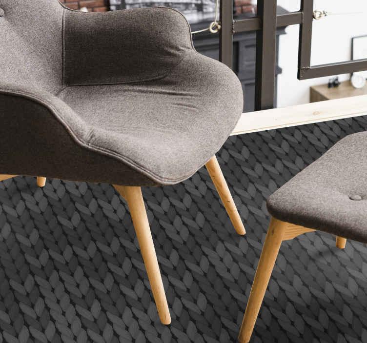 TenStickers. Tapete minimalista de cordas cinza. Um tapete de vinil minimalista com cordas cinzentas de produtooriginal e realista. é duradouro, fabricada com o melhor vinil de qualidade do mercado.