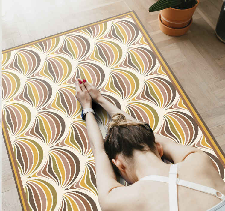 TenStickers. 70s pattern retro rug. A stunning 70s vinyl carpet for that vintage homely feel you have been after. Sign up to our website for 10% off your first order.