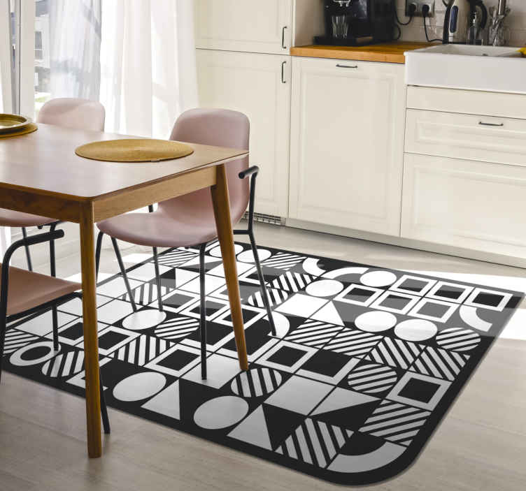 TenStickers. Abstract design contemporary rugs. This  Abstract patterned rug will look great on the floors in your home. It features a beautiful abstract design, making it look great in any home