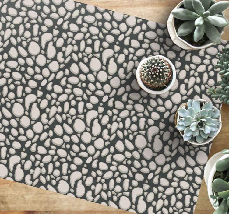 TenVinilo. Alfombra vinilo moderna imitación piedras. Alfombra vinilo moderna imitación piedra adecuada para cualquier habitación de una casa ¡Descuentos disponibles!