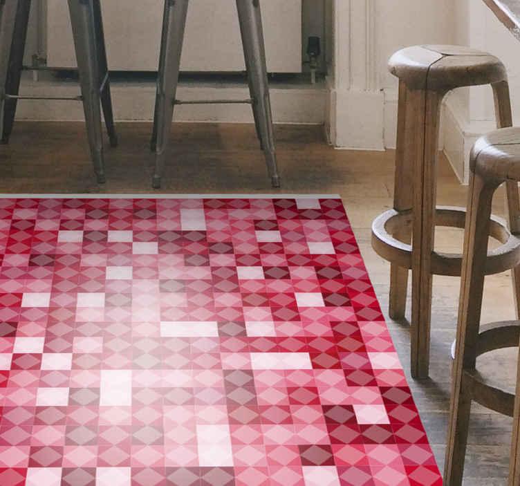 TenVinilo. Alfombra vinilo mosaico rojo de vidrio. Alfombra vinilo cocina de mosaico de resina colorida para decorar tu casa de forma original. Es duradero y fácil de mantener.